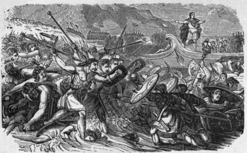 César al asalto de Gran Bretaña