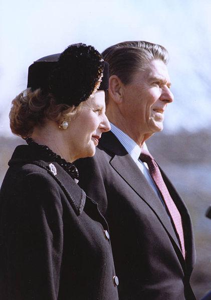 Margaret Thatcher y Ronald Reagan