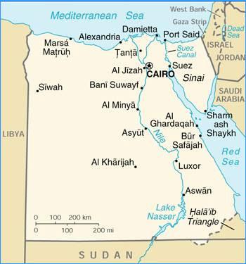 mapa del canal de suez